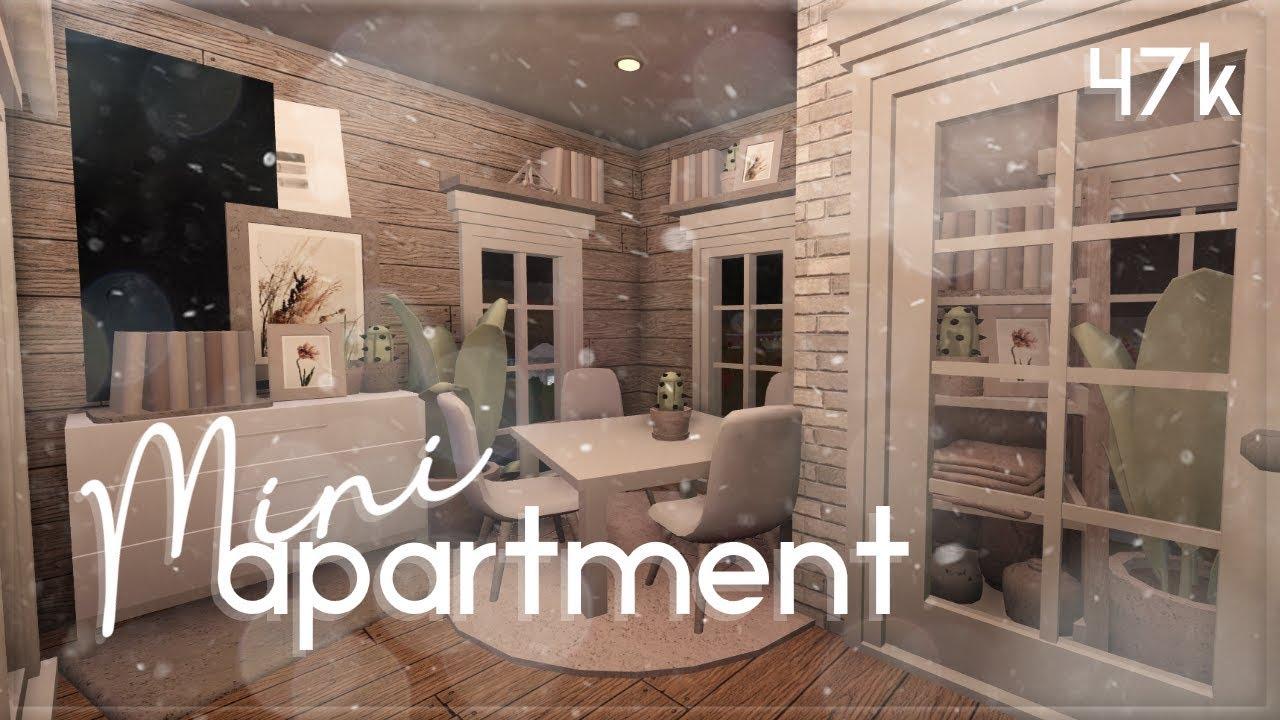 Roblox Bloxburg Mini Apartment House Build Youtube