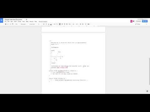 Google Coding Interview - Question