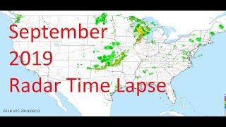 September 2019 US Weather Radar Time Lapse Animation