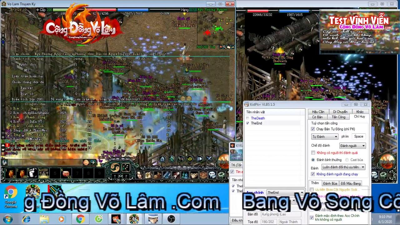Võ Đang Tống Kim 21h 03/06/2020 mặc áo nhu tình võ lâm truyền kỳ web game congdongvolam.com