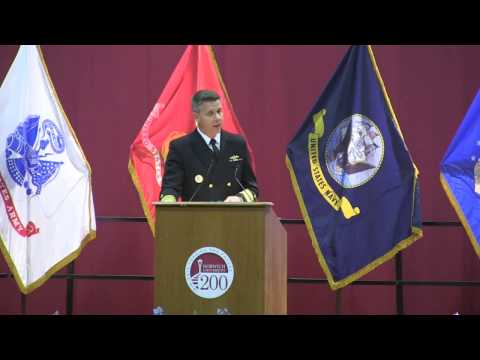 Norwich University Todd Lecture Series Talk by ADM Phil Davidson, USN