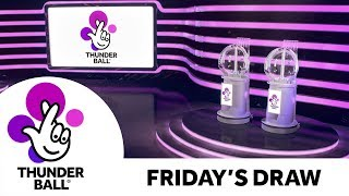 The National Lottery 'Thunderball' draw results from Friday 18th October 2019
