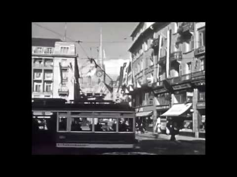 Fahrt durch Zürich - 1939 - Driving through Zurich