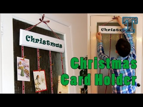Christmas Card Holder: Simple Holiday DIY Woodworking Project