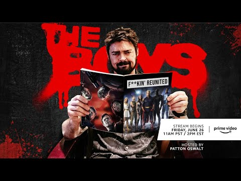 The Boys Season 1 Recap Zoom Call With Patton Oswalt   Prime Video
