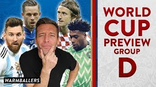 My updated world cup preview!!! - group d