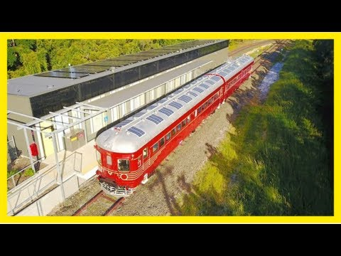 All aboard the world's first solar-powered train