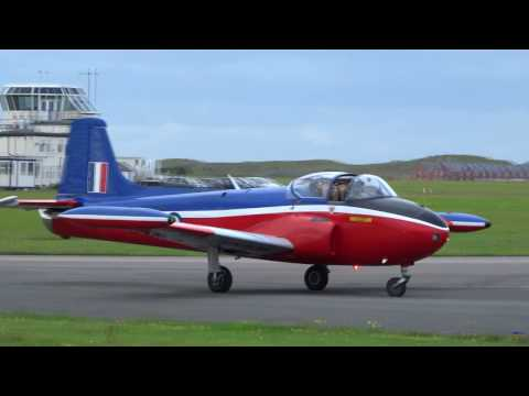 Taxiing Special !! Jet Provost XW324(T.5) & XN637(T.3)@Blackpool Airport