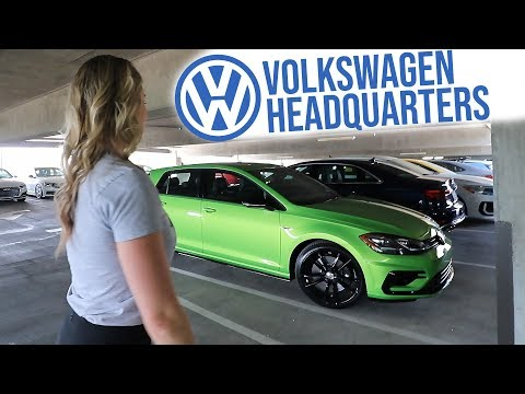 VW HQ Parking Garage Tour and TCR GTI Walkaround