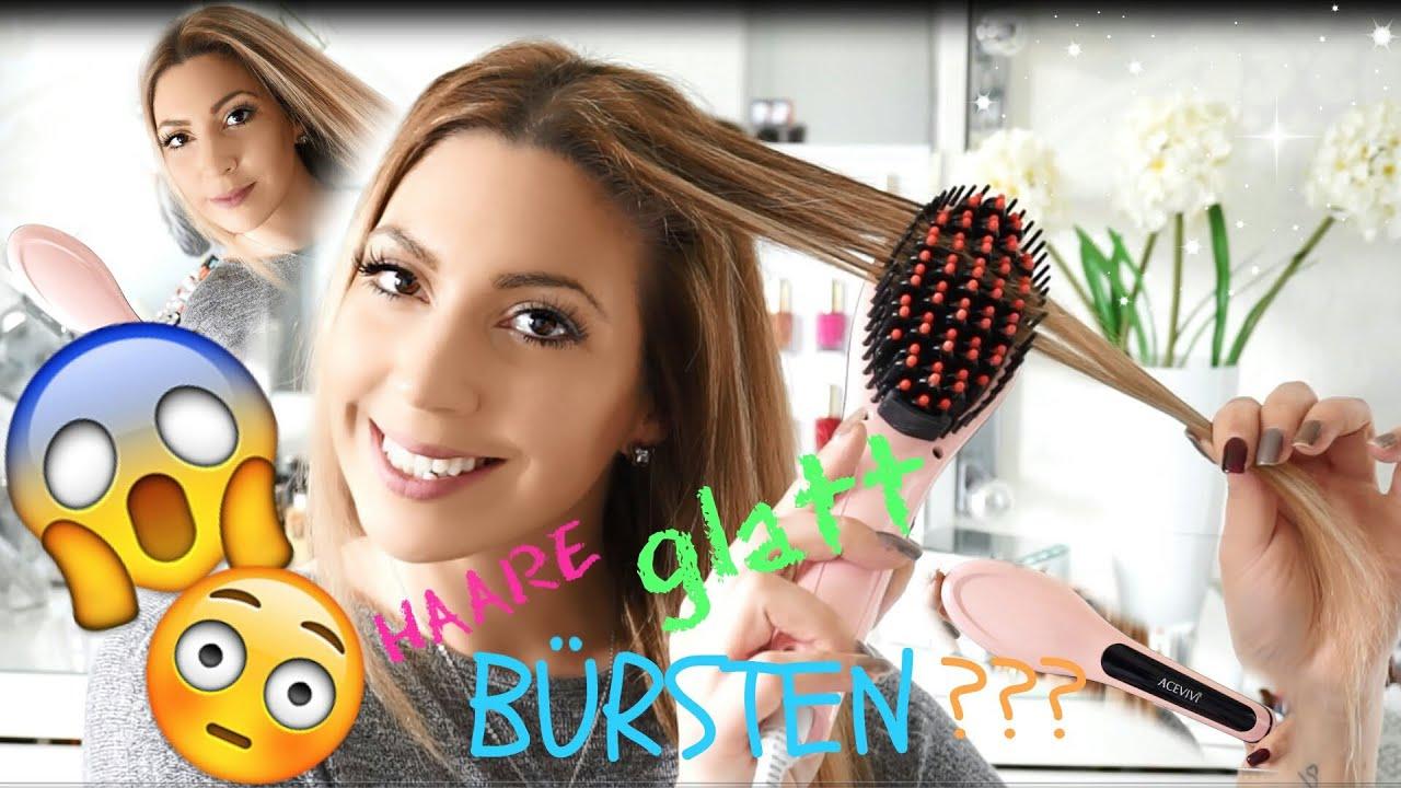 Bürste Zum Haare Glättenglätteisen Bürste Getestet Youtube