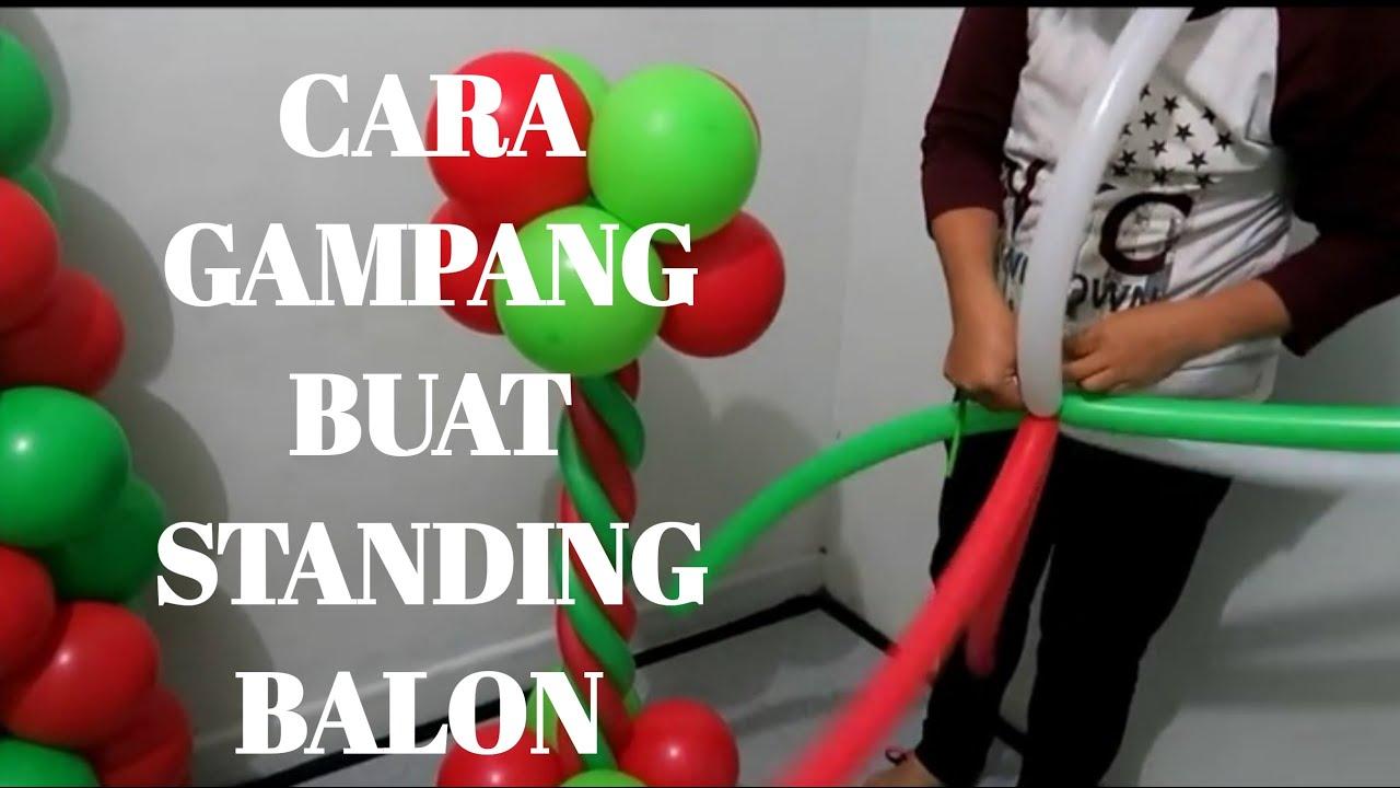Cara Membuat Dekorasi Balon Standing