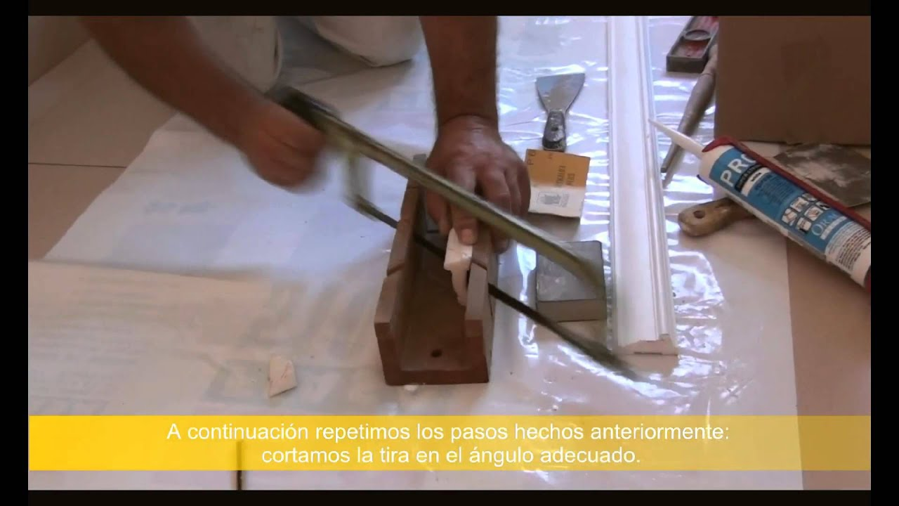 Colocación Molduras Decorativas - YouTube