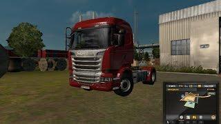 Euro truck simulator 2 cruzando marcha no mercedes do meu patrão ..