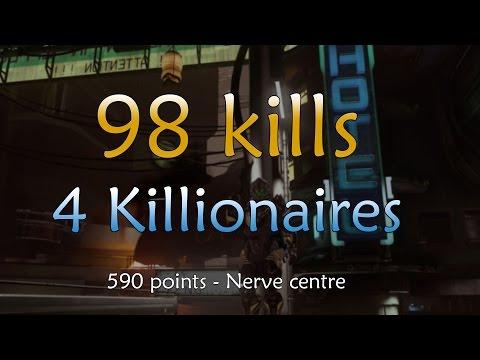 98 KILLS! 4 KILLIONAIRES! Nerve centre - Halo 5 Infection