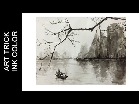 Chinese Ink Painting - Quick Draw by Ink | Art Trick