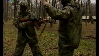 Тренировка разведчика спецназа.