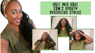 GORJESS DAYS: HALF WIG HAUL   SAM'S BEAUTY   PROTECTIVE HAIRSTYLE & TRY ON   OUTRE & SENSATIONNEL