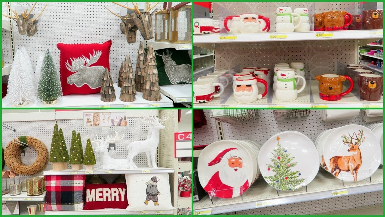 Shopping At Target Walmart For Christmas Decorations