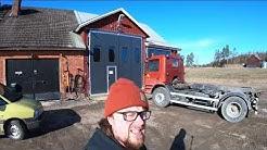 Pikkuinen vaijeri Scania 93 4x2 tuli taloon
