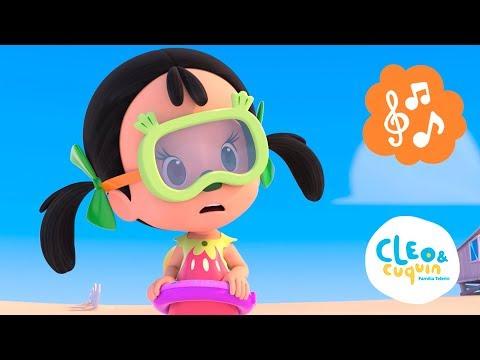 Canción de  nadar con Cleo y Cuquín. Canciones infantiles de la Familia Telerín para niños