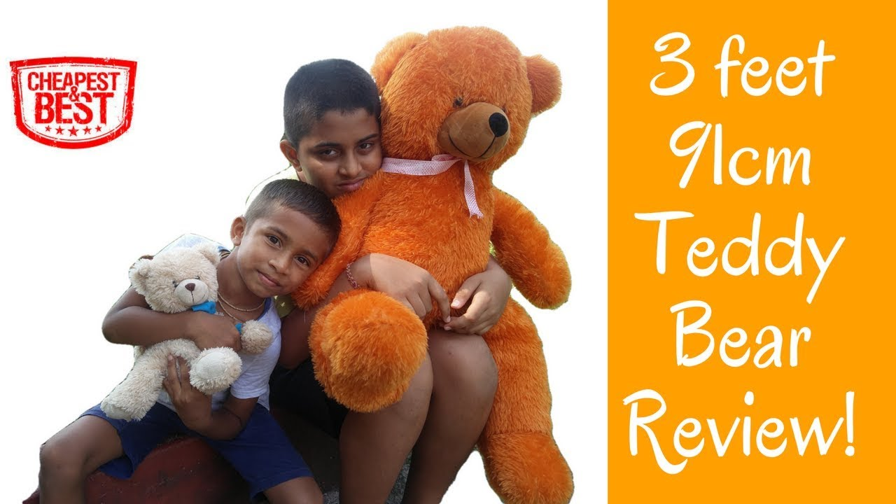 3 Feet Big Size Teddy Bear Review Girlfriend Kids Birthday