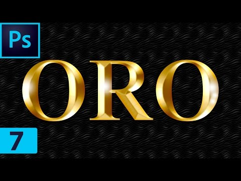 🅿 Tutoriales Photoshop - Efecto De Oro