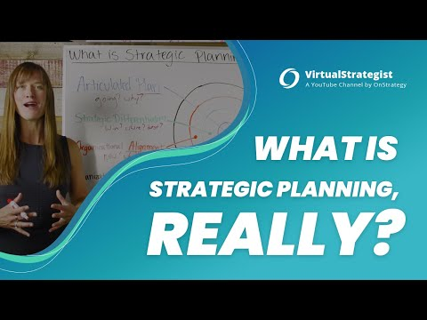 What is Strategic Planning, Really?