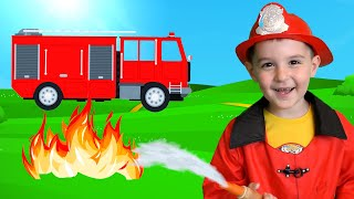 Firefighters Song - Fire Track song - Nursery Rhymes &Kids Song by Nart JJ