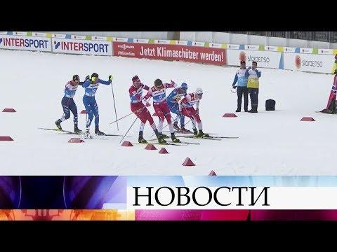 Российский лыжник Сергей Устюгов дисквалифицирован из-за конфликта с норвежцем Йоханнесом.