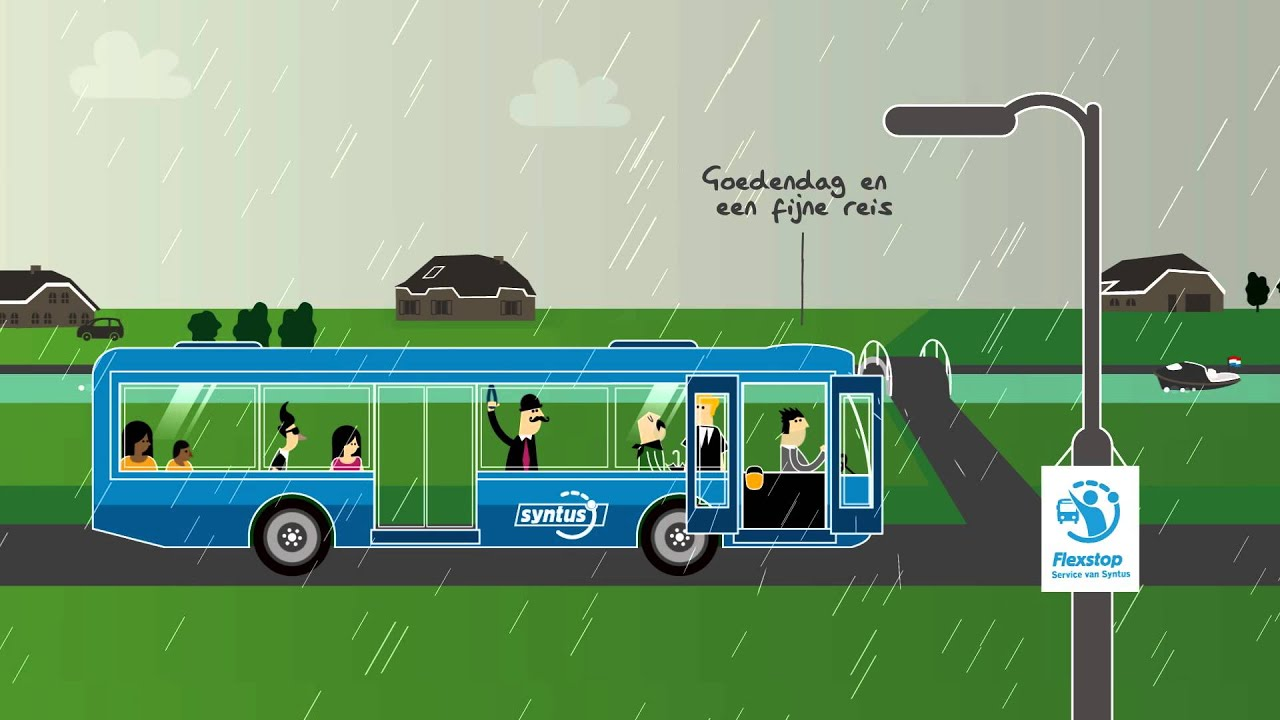 Animation for new Service of Public Transport Company (Syntus - Flexstops)