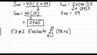 11-5 Sums of Arithmetic and Geometric Series