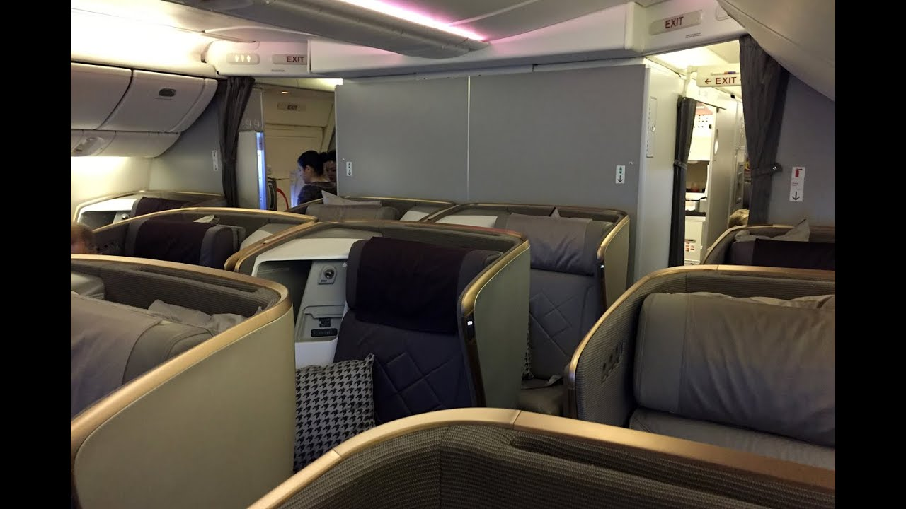 Singapore Airlines Boeing 777 300er Man Muc Business