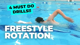 FREESTYLE ROTATION | 4 Drills You MUST Do to Improve Rotation and Timing!!
