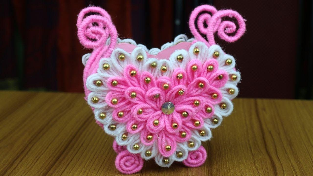 Amazing Woolen Design For Home Decor Woolen Craft Idea