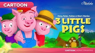 Three Little Pigs kids story cartoon | Bedtime Stories for Kids thumbnail