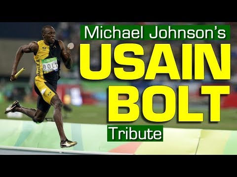 Usain Bolt tribute by Michael Johnson [Subtitles added]