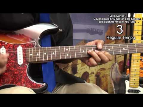 How To Play LET'S DANCE Stevie Ray Vaughan Guitar Solo David Bowie EricBlackmonGuitar HD