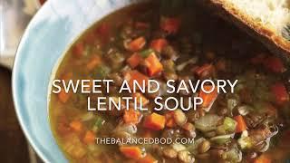 Sweet & Savory Slowcooker Lentil Soup
