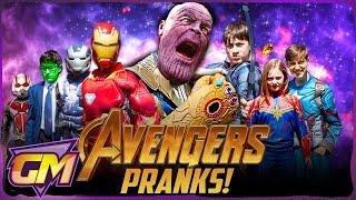 Avengers Kids Vs Thanos Sneak Attack!!