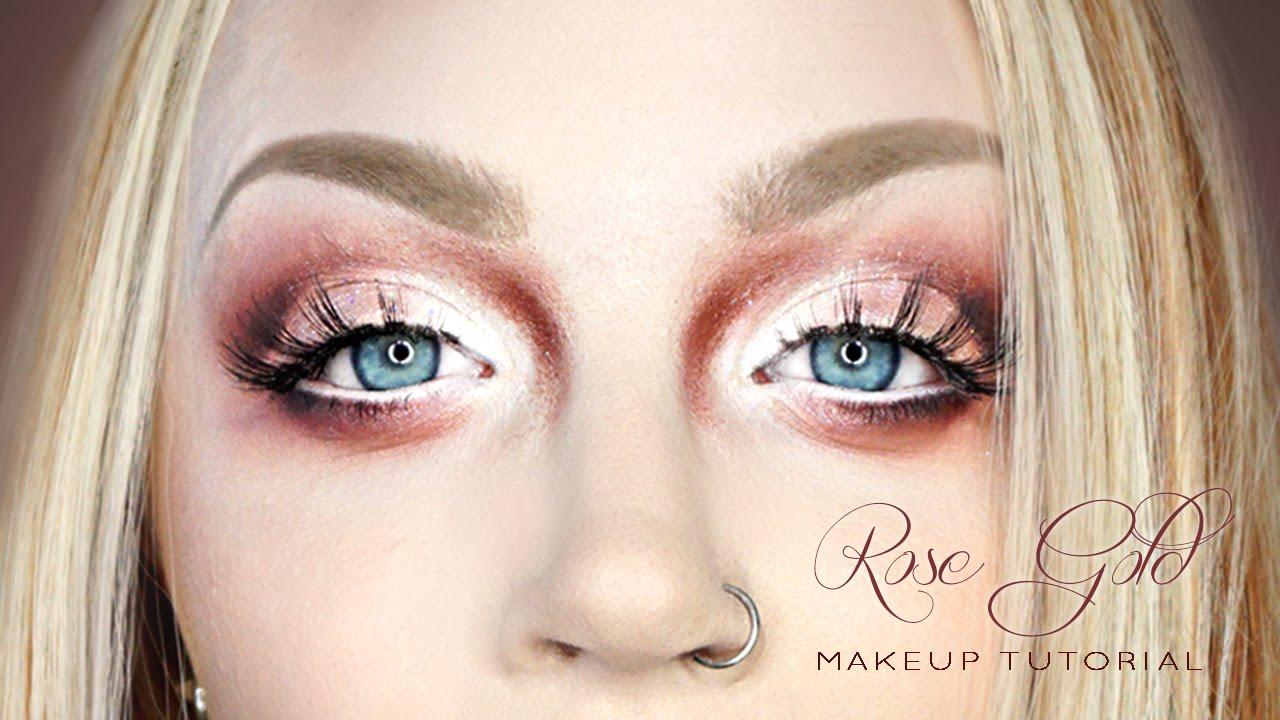 Smokey Rose Gold - Eye & Face Makeup Tutorial   Doovi