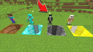 Minecraft DONT ENTER FORBIDDEN HOLE WITH NOOB VS PRO VS HACKER VS GOD HOUSE MOD !! Minecraft Mods