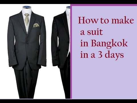 Travel tips | How to sew a suit in Bangkok in a 3 days | Khaosan road | Thailand