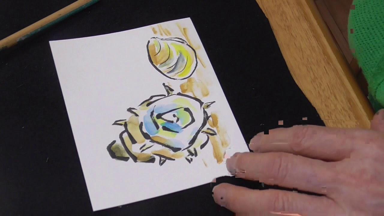 絵手紙入門 楽しく簡単に四季を描こう 貝ときゅうり