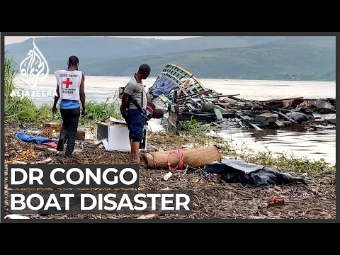 DRC boat disaster: Rescuers struggle to reach victims' bodies