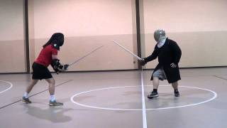 German Longsword vs Scottish Broadsword Martial Challenge Cateran Galloglass)  Eric Wiggins vs Jonat