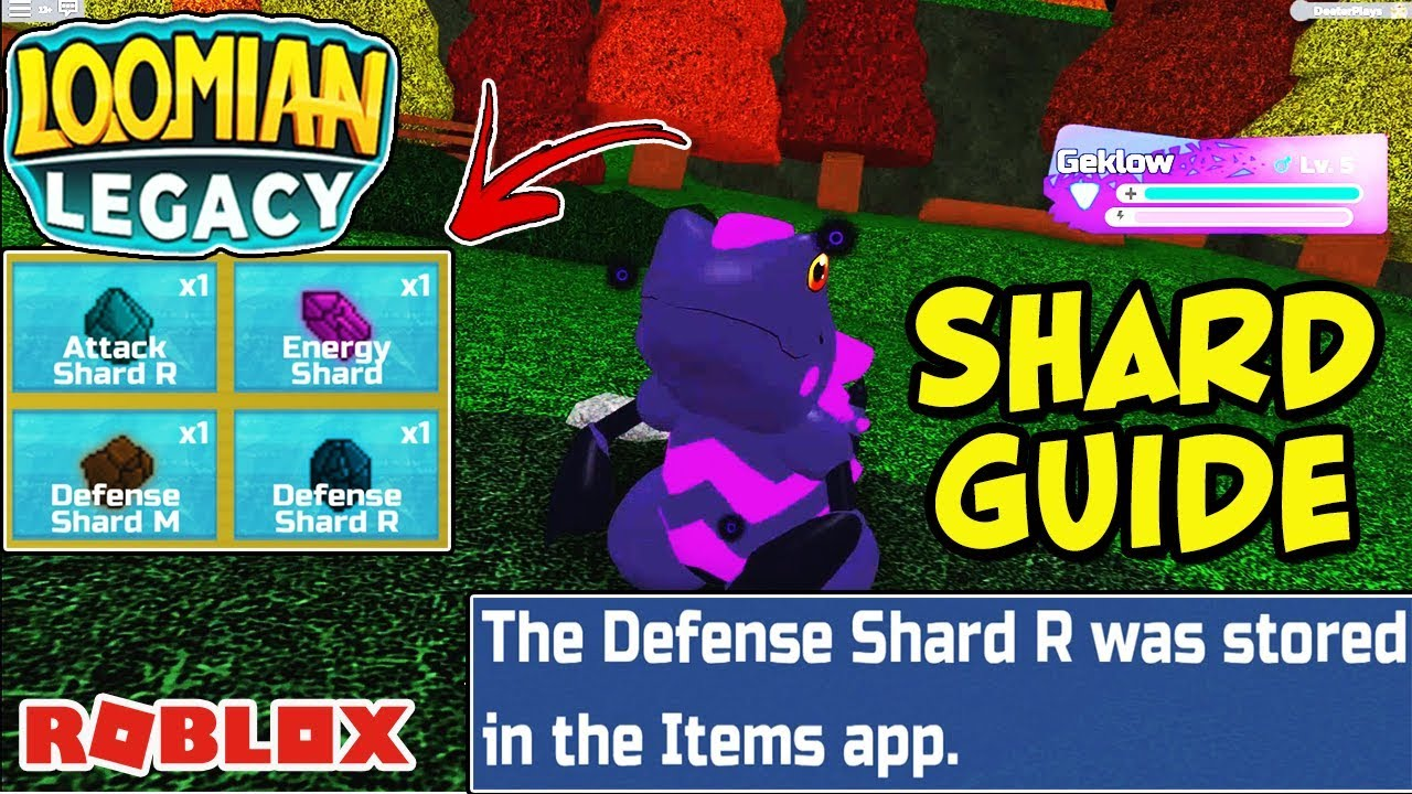 How To Get and Use Shards in Loomian Legacy (Roblox) - What Happens When  You Use A Shard?