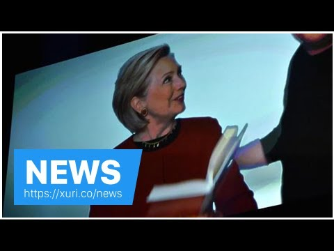 Download News - Hillary Clinton surprised with fire and fury Grammy spoof