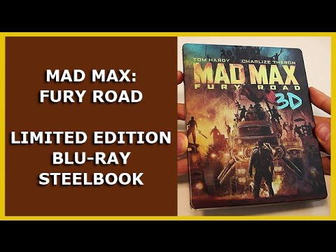 Mad Max Fury Road Limited 3d Blu Ray Steelbook Unboxing