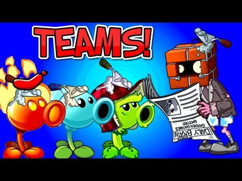 NEW Plants vs Zombies 2 Teams Gameplay vs BrickHead Zombie - Mixed Level Plants PVZ 2 Primal