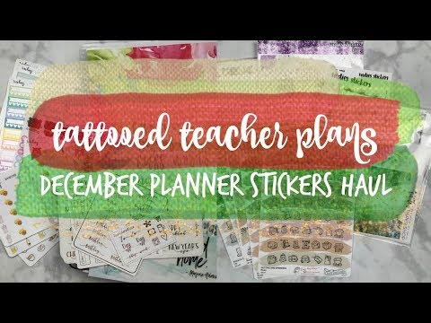 december planner supplies haul! ft. omwl, gp sticker studio, firefly paper, & more!